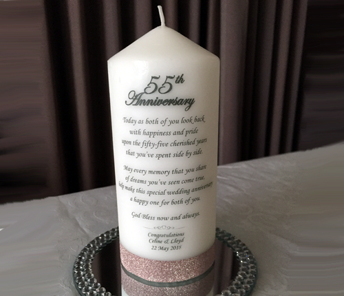 Anniversary Candle with verse